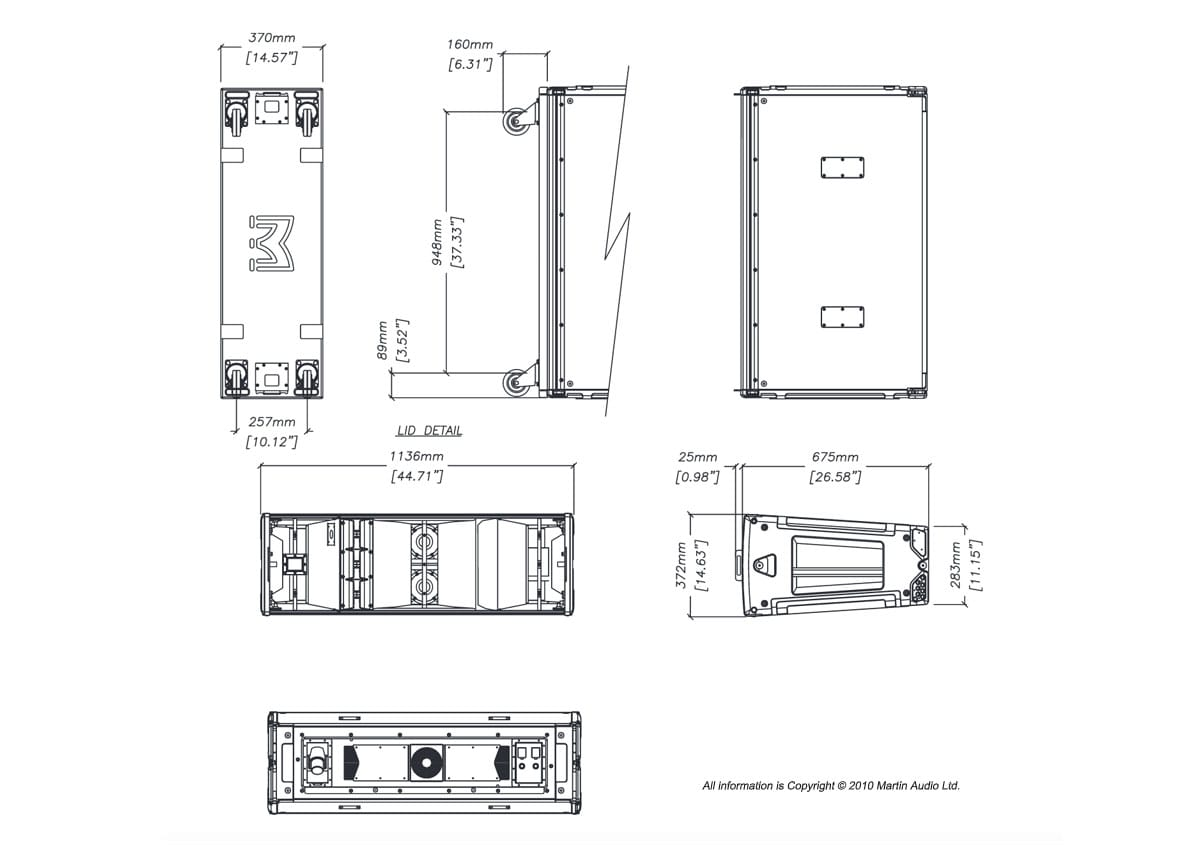 Martin Audio MLA Tech Drawing