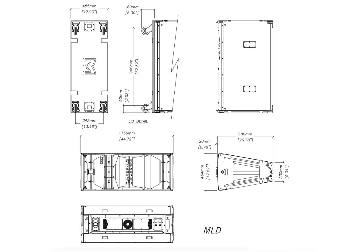 Martin Audio MLD Tech Drawing