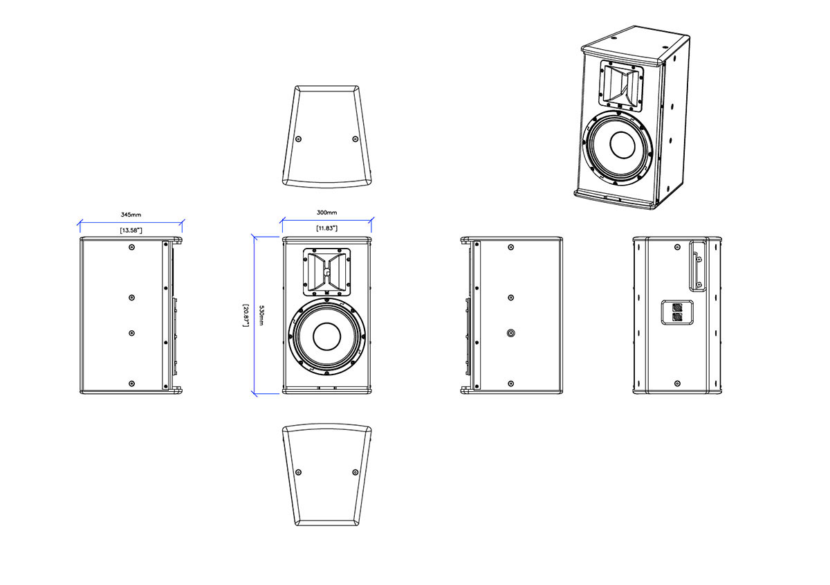 Martin Audio S.Series S.10 Tech Drawing