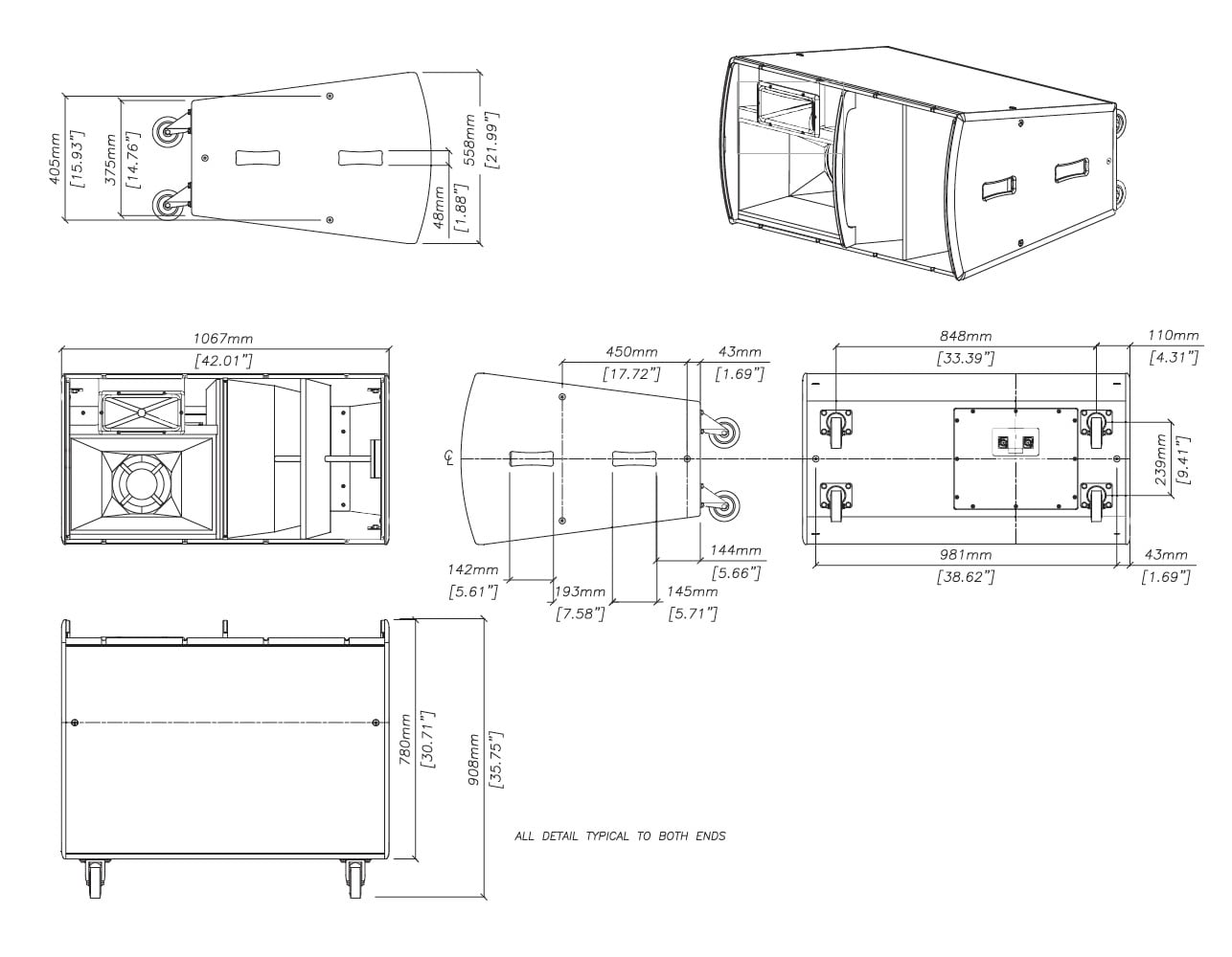 Martin Audio TH Series THH Tech Drawing