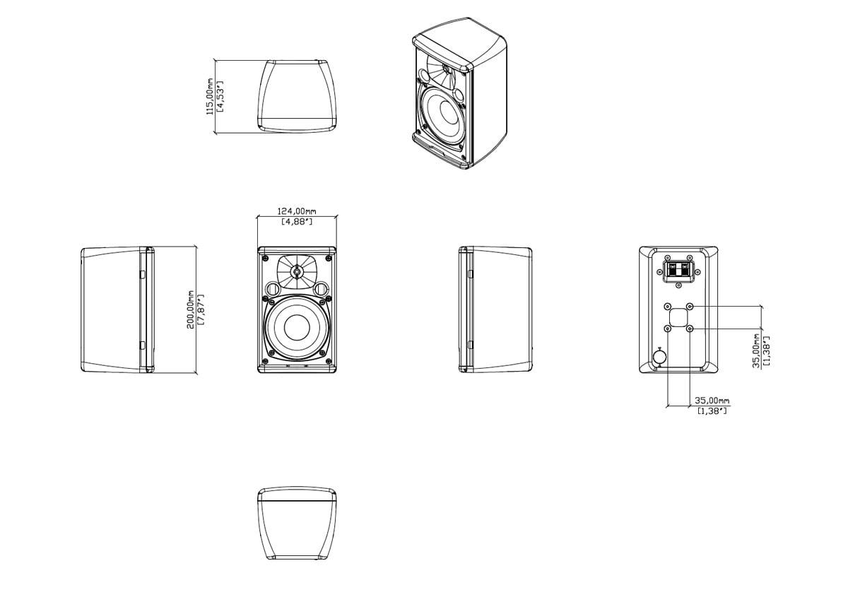 Martin Audio Adorn A40 Tech Drawing