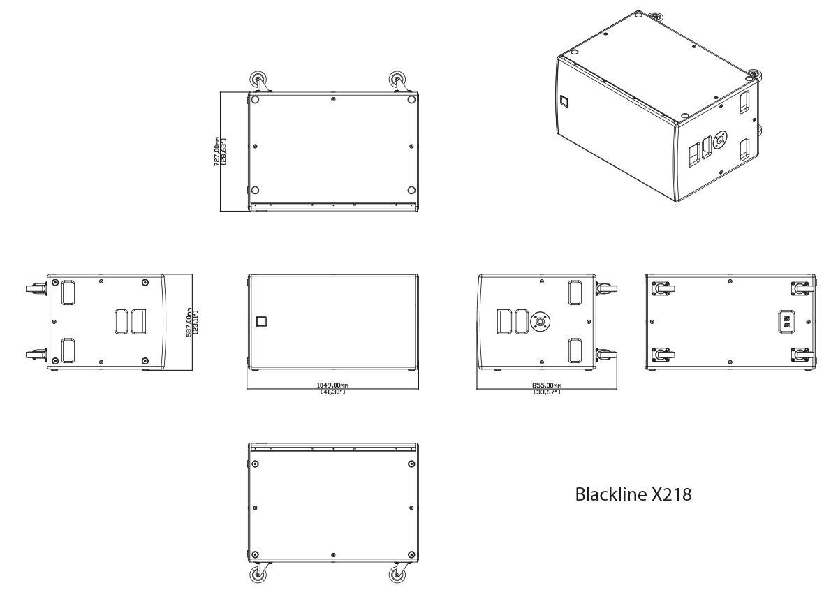 Martin Audio Blackline X218 Tech Drawing