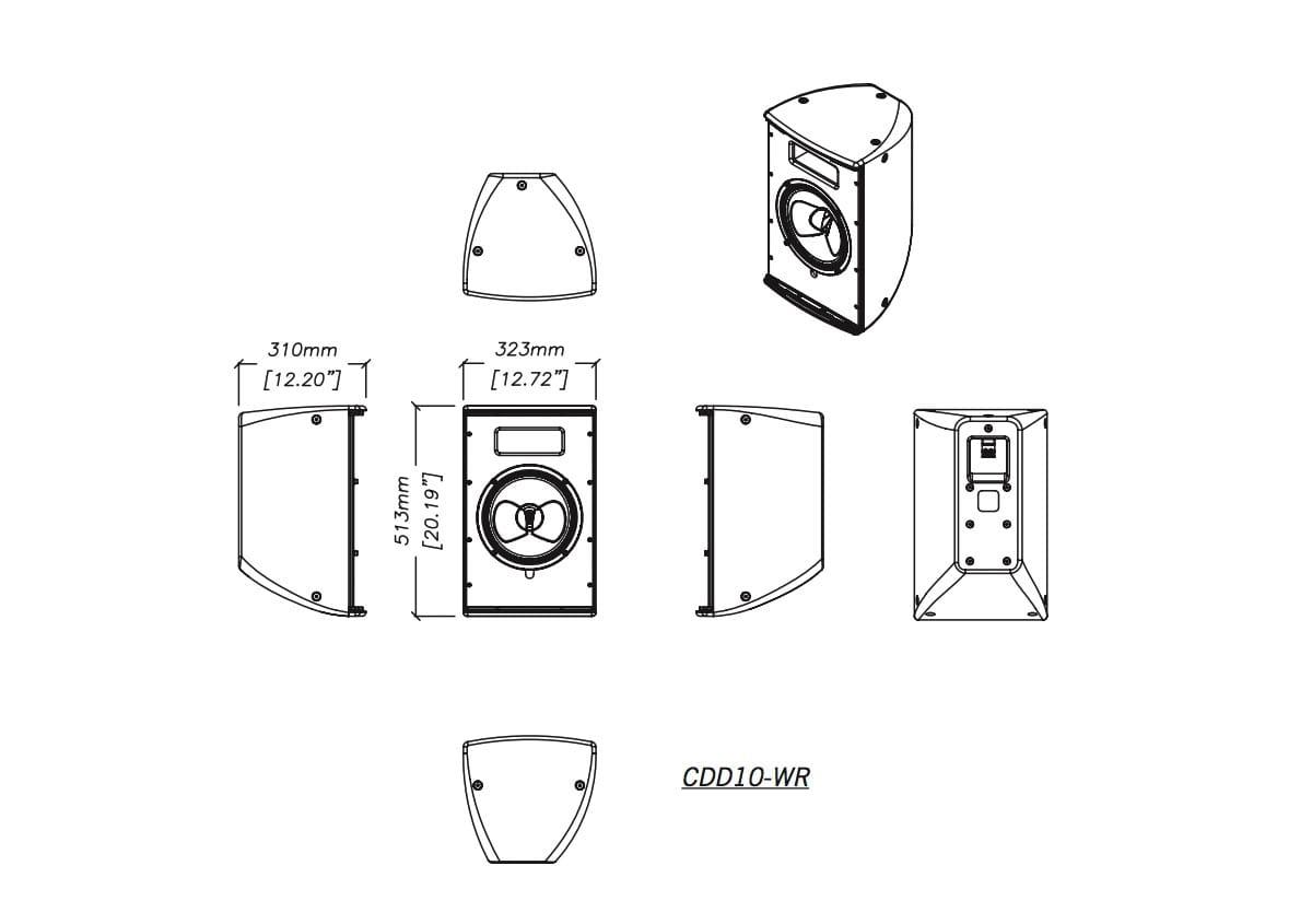 Martin Audio CDD10-WR Tech Drawing