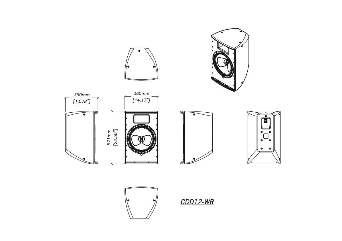 Martin Audio CDD12-WR Tech Drawing