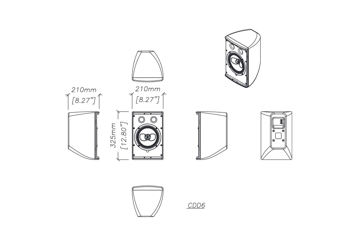 Martin Audio CDD6 Tech Drawing