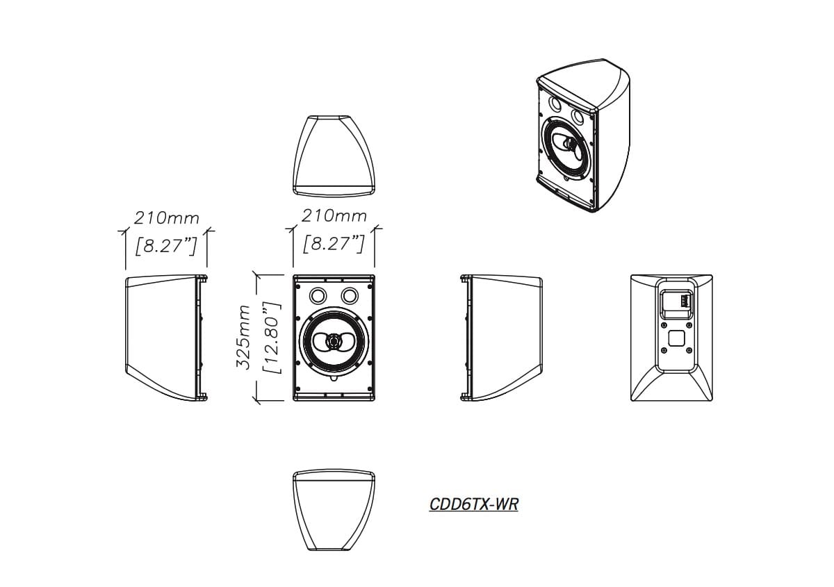Martin Audio CDD6TX-WR Tech Drawing