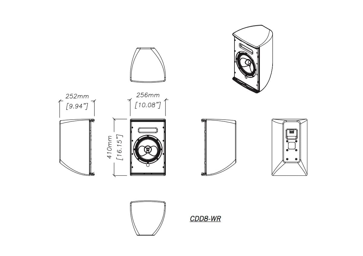 Martin Audio CDD8-WR Tech Drawing