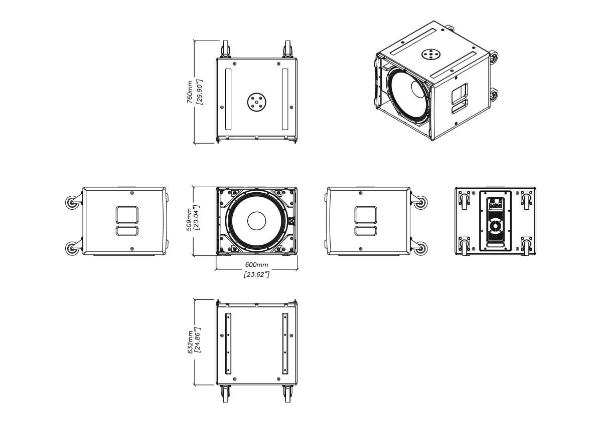 Martin Audio CSX-LIVE 118 Tech Drawing