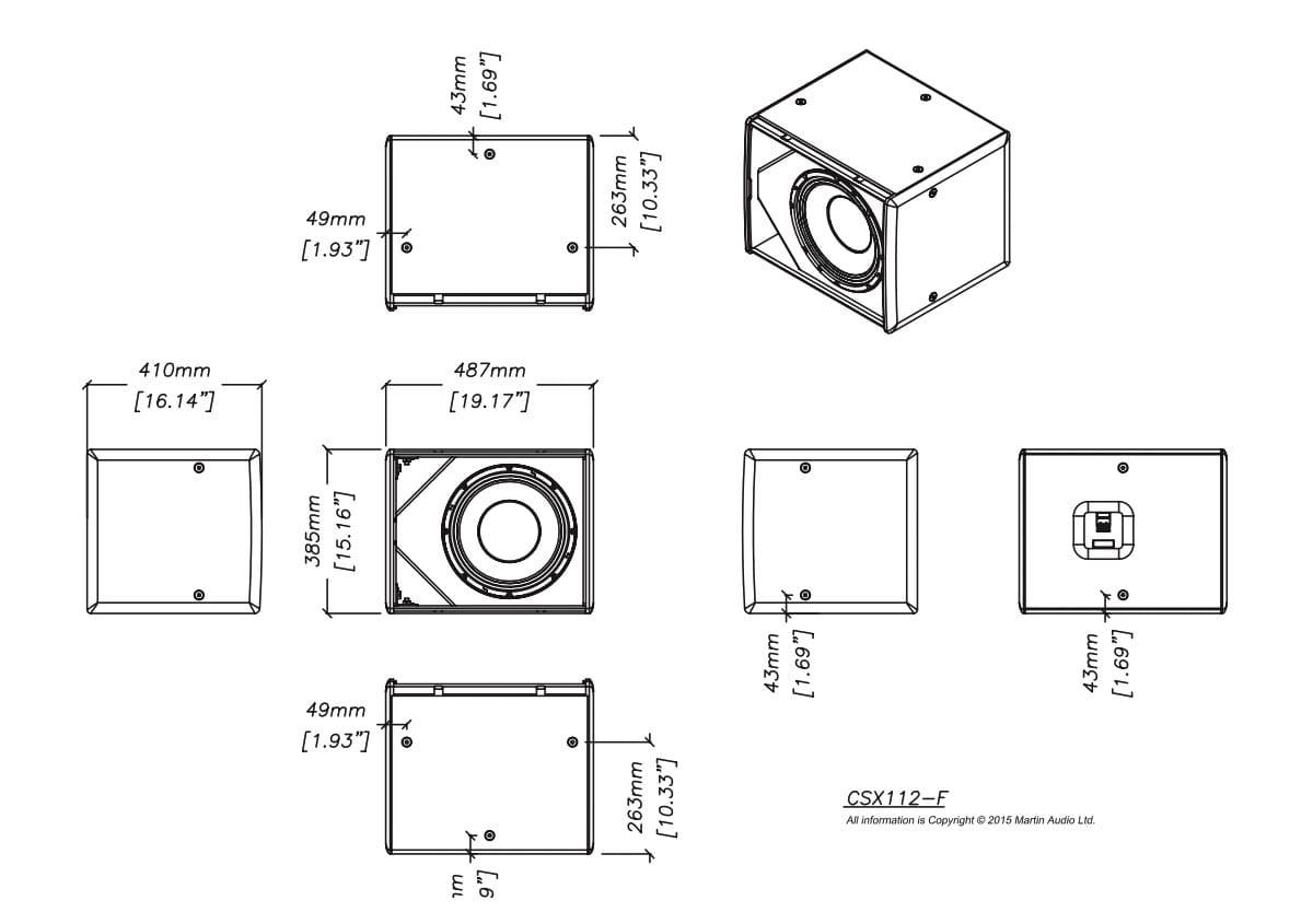 Martin Audio CSX112-WR Tech Drawing
