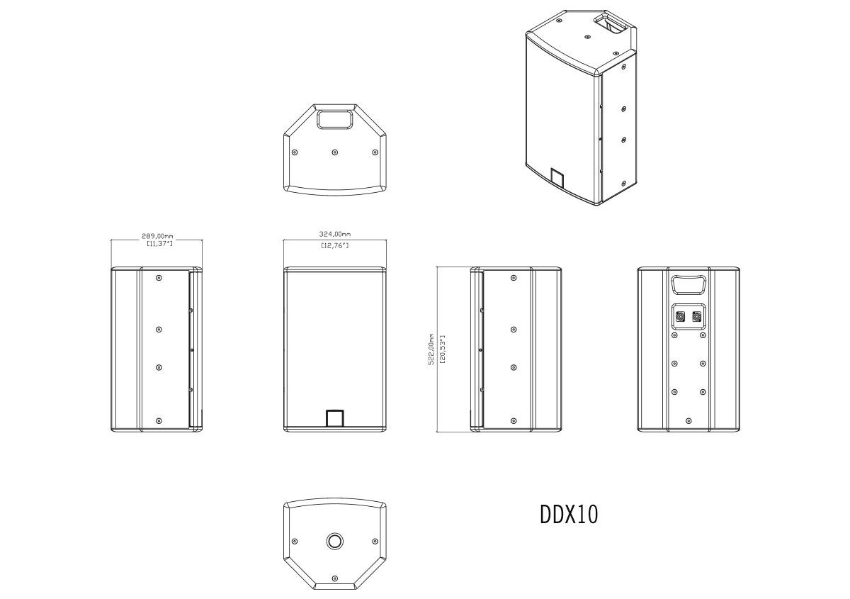 Martin Audio DDX10 Tech Drawing