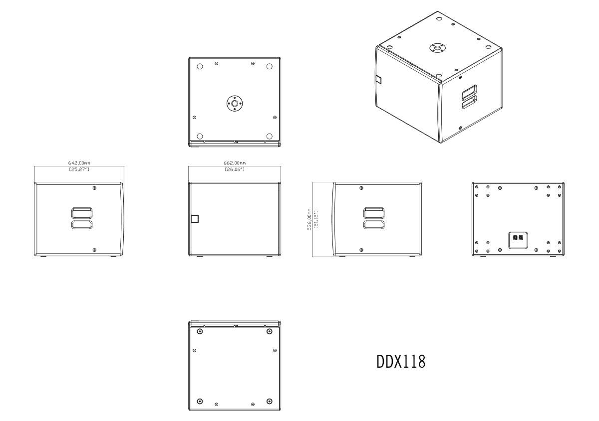 Martin Audio DDX118 Tech Drawing