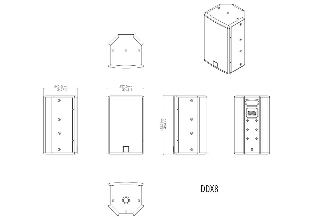 Martin Audio DDX8 Tech Drawing