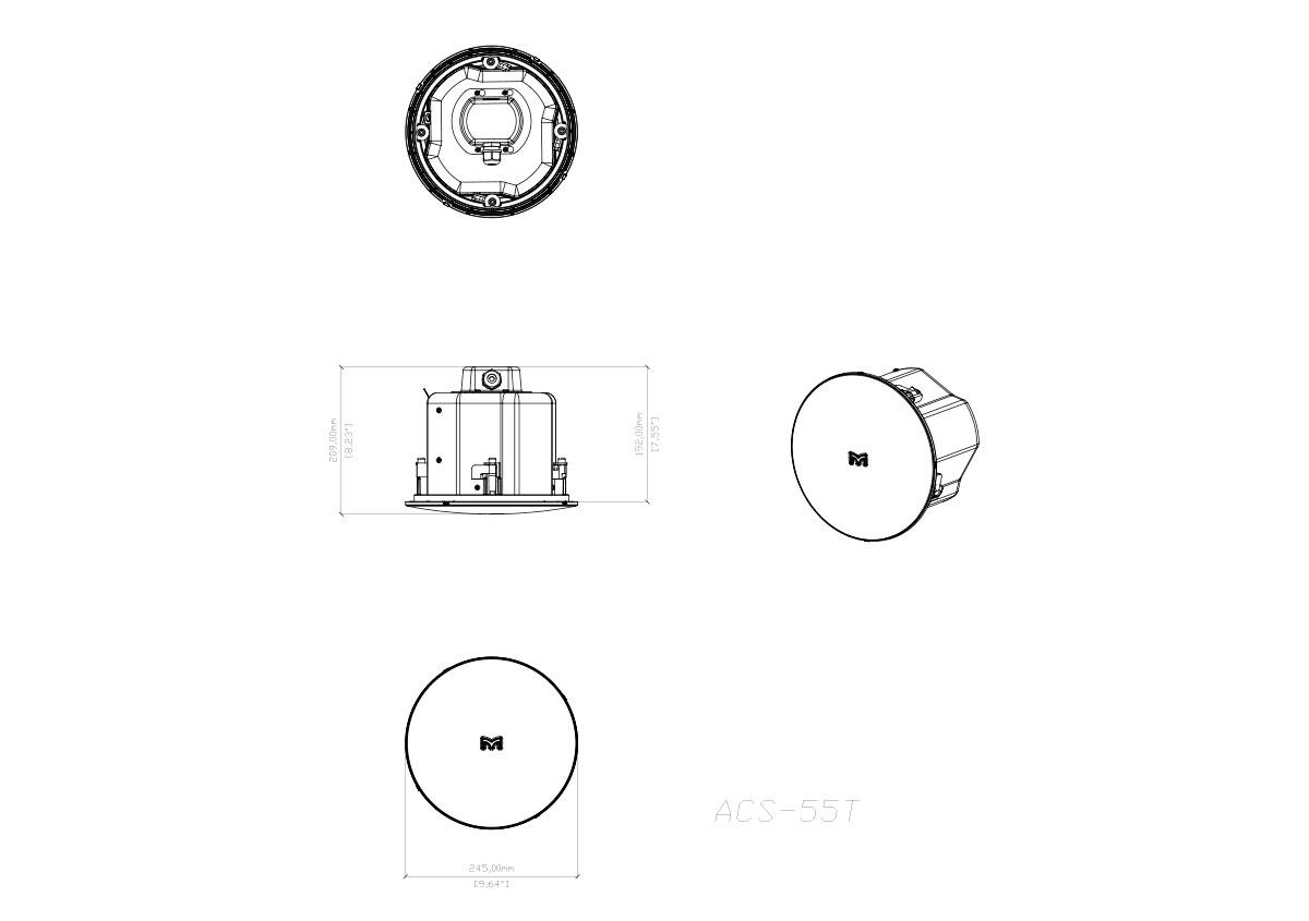 Martin Audio Adorn ACS-55T Tech Drawing