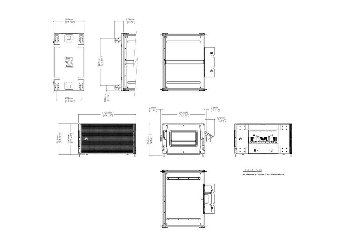 Martin Audio DSX Tech Drawing