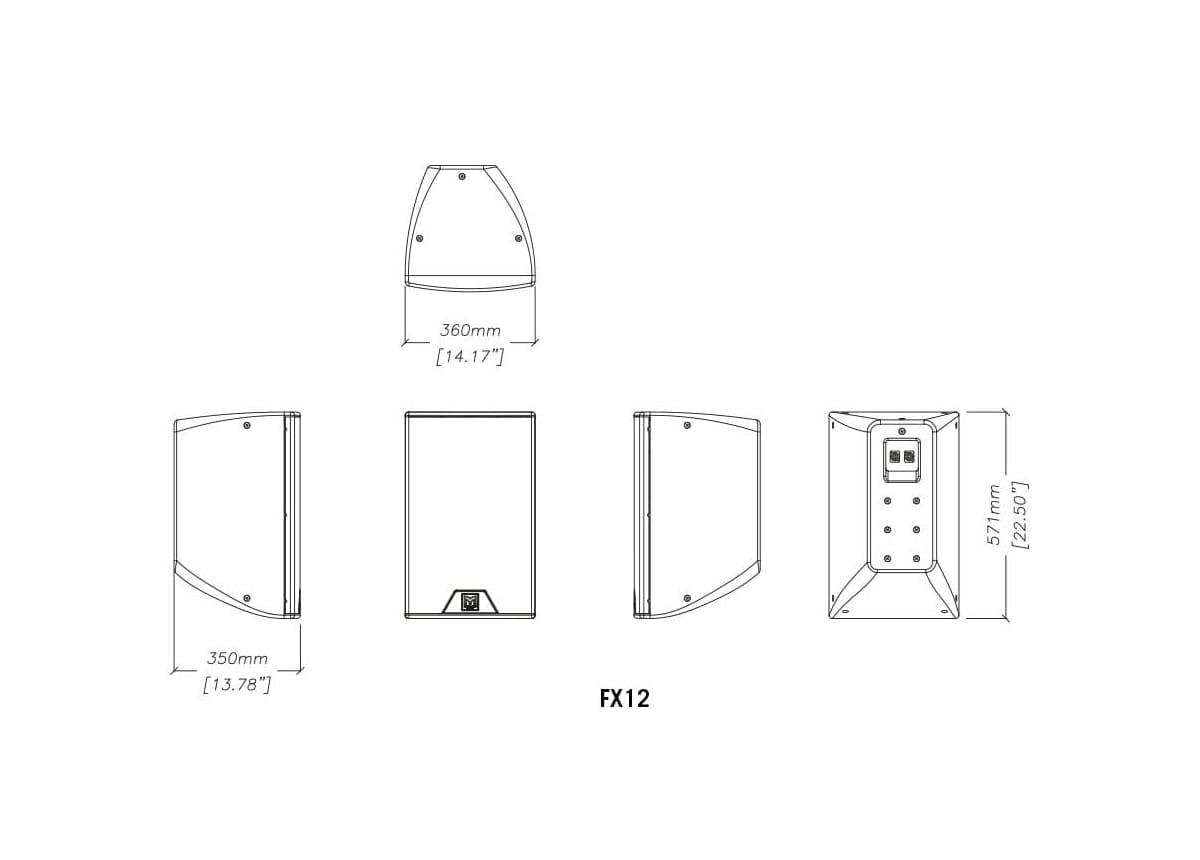 Martin Audio FX12 Tech Drawing
