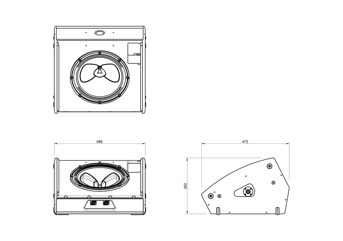 Martin Audio LE100 Stage Monitor Tech Drawing