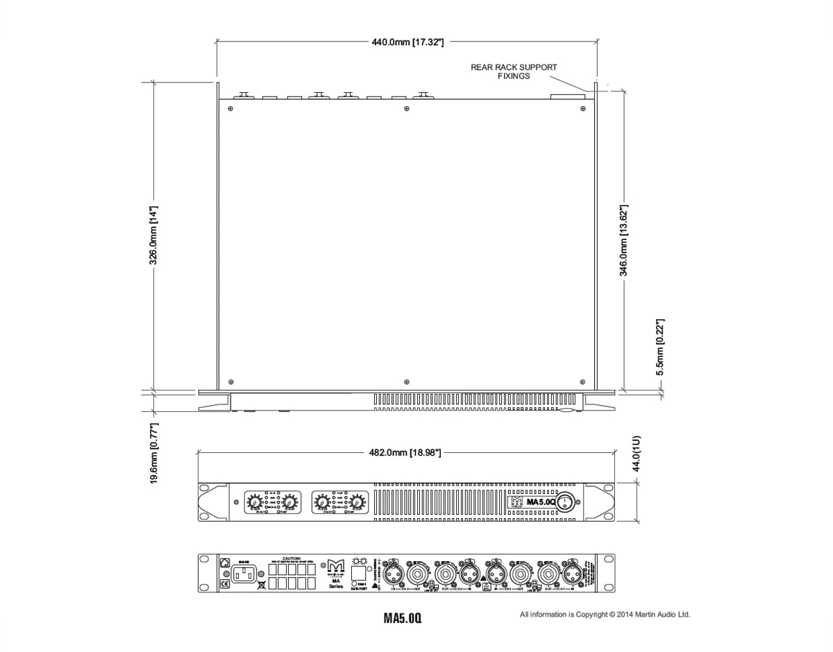 Martin Audio MA5.0Q Tech Drawing
