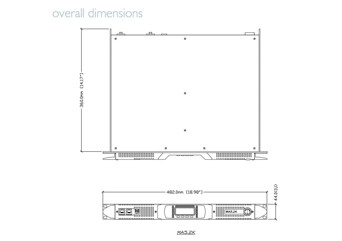 Martin Audio MA5.2K Tech Drawing