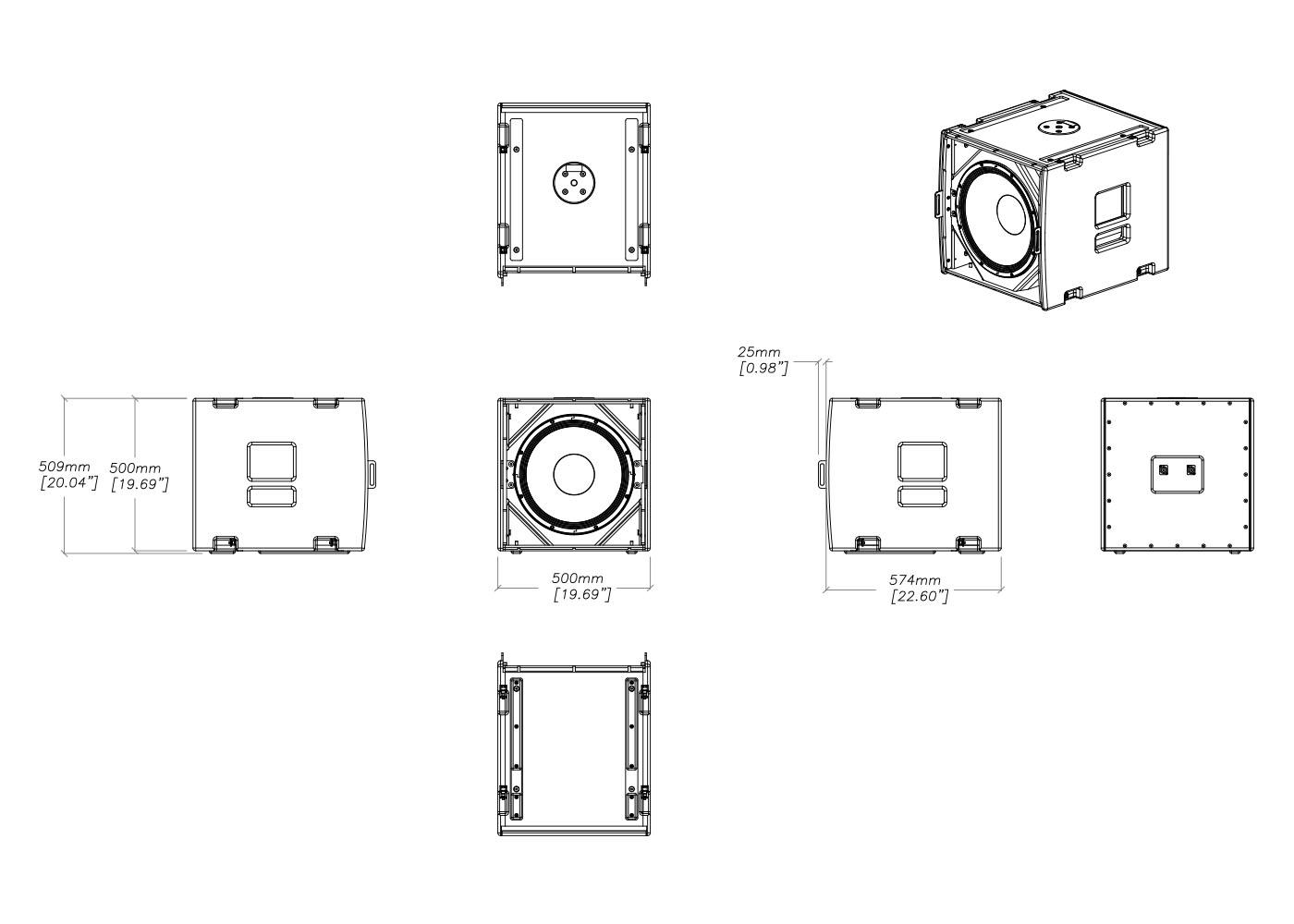 Martin Audio Martin Audio SXF115 Tech Drawing