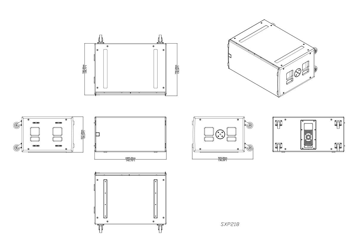 Martin Audio Martin Audio SXP218 Tech Drawing
