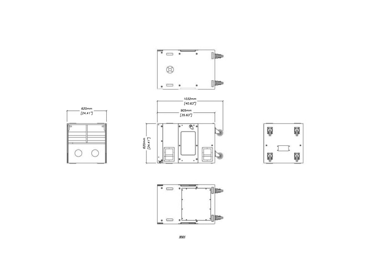 Martin Audio WMX Tech Drawing