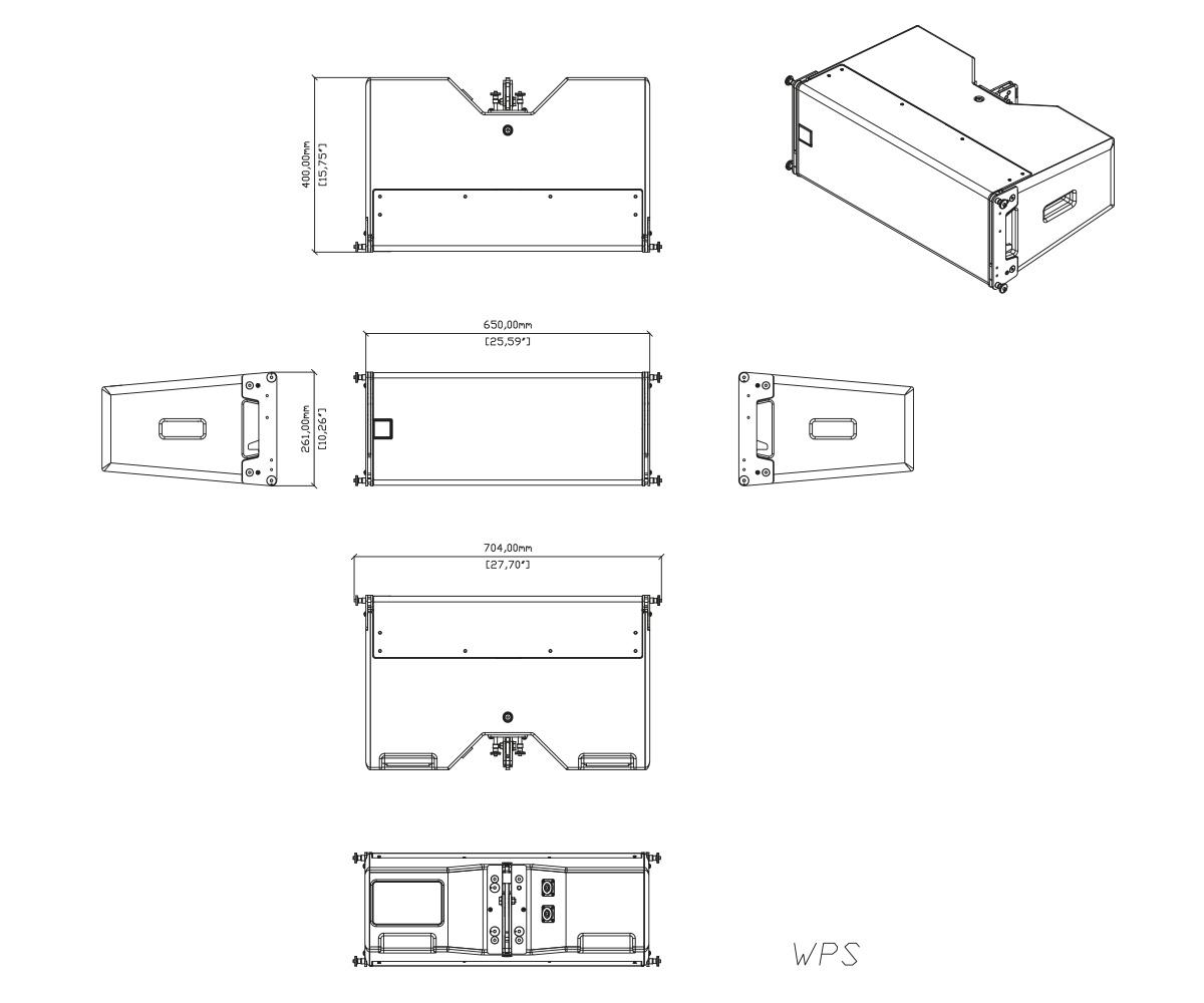 Martin Audio WPS Tech Drawing