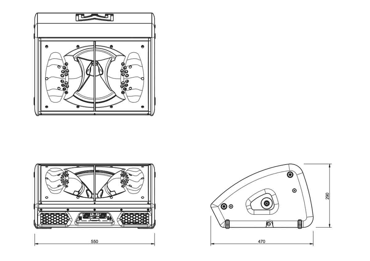 Martin Audio XE300 Tech Drawing