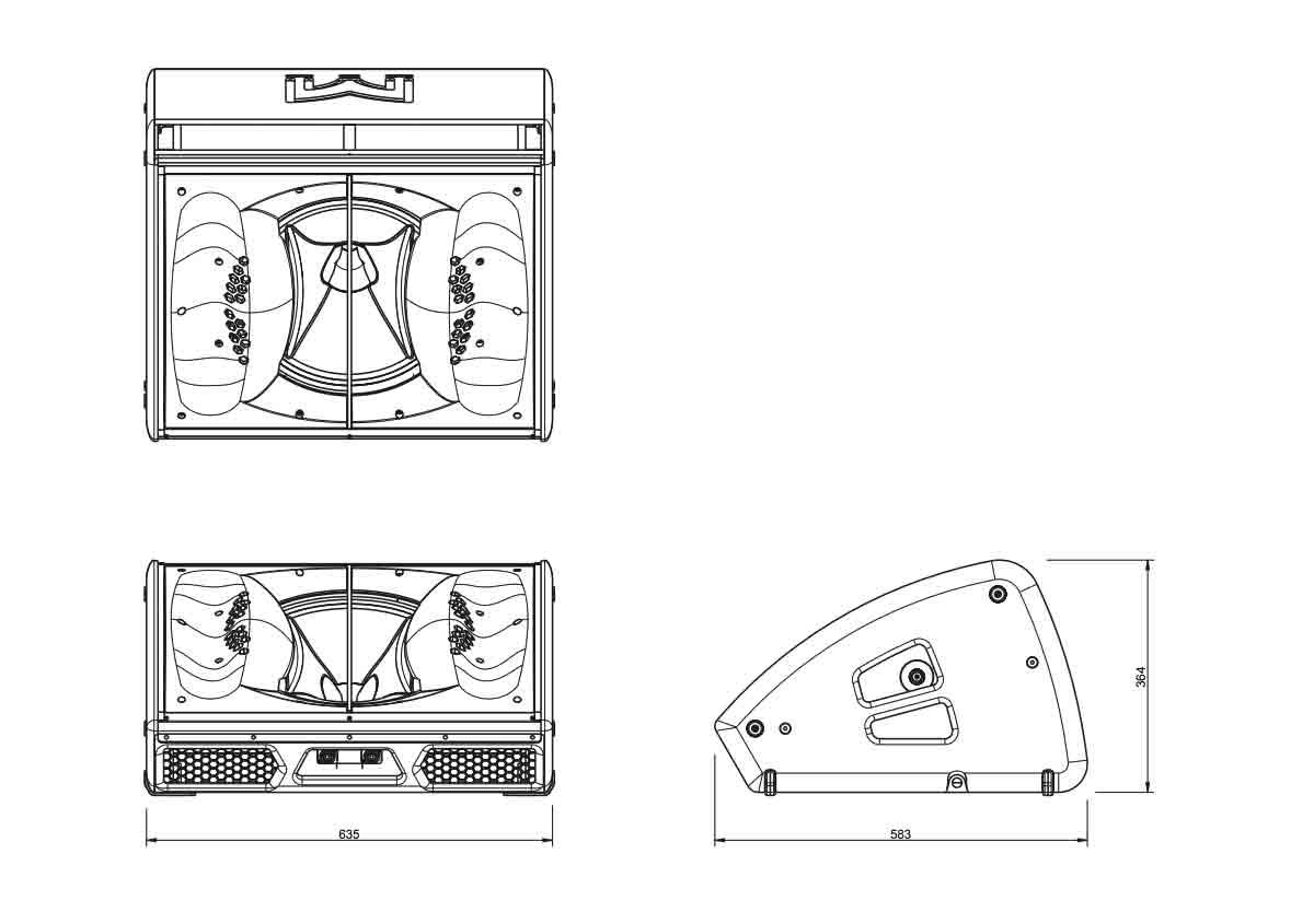 Martin Audio XE500 Tech Drawing